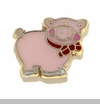 Pink Pig with Bow Tie Floating Locket Charm