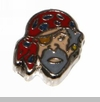 Pirate Face Floating Locket Charm