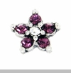 Purple Crystal Star Floating Locket Charm