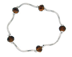 Prism Pals Root Beer Color Crystal Stretch Bracelet