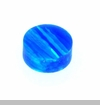 Royal Blue Round Opal Floating Charm