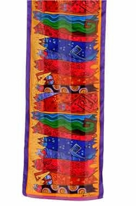 Santa Fe Felines Scarf by Laurel Burch