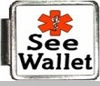 See Wallet Medical Alert Photo Italian Charm