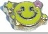 Smiley Face with Star Heart Locket Charm