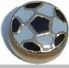 Soccer Ball Heart Locket Charm