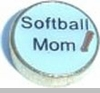 Softball Mom Floating Heart Locket Charm