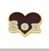 Son Red Heart Floating Locket Charm