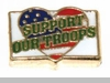 Support Our Troops Floating Locket Charm