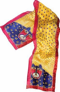 Toto Silk Scarf by Laurel Burch