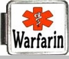 Warfarin Medical Alert Photo Italian Charm