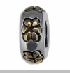 Wheel with Gold Flowers European Bead Charm