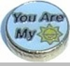 You Are My Sunshine Heart Locket Charm