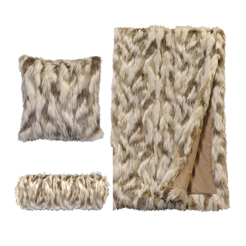 Faux Fur Throw And Pillow Set : Faux Fur Blankets Archives - Cowboy Western Decor