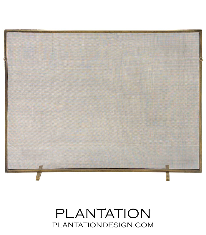 Adriana Fireplace Screen | Brass | PLANTATION