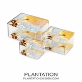 Agoura Lucite Boxes | Natural