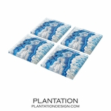 Agoura Lucite Coasters Set | Blue