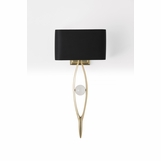 Aidan Brass Sconce | Black Shade