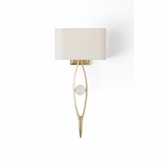 Aidan Brass Sconce | White Shade
