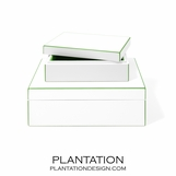 Alana Lacquer Storage Boxes Set | Bright Green
