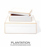 Alana Lacquer Storage Boxes Set | Orange