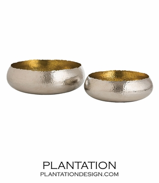 Alexa Metal Bowls Set | Nickel