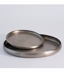 Anika Round Metal Trays | Nickel
