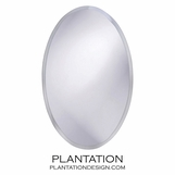 Arlen Frameless Wall Mirror | Oval