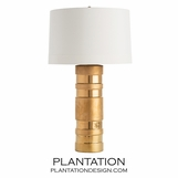 Arthur Gold Ceramic Lamp | White Shade