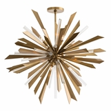 Astoria Grand Starburst Chandelier | Brass