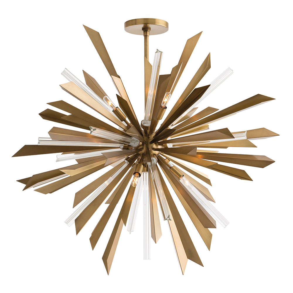 astoria grand starburst chandelier  brass. astoria grand starburst chandelier  brass  plantation