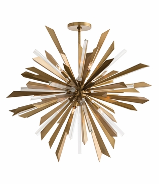 Astoria Grand Starburst Chandelier | Antique Brass