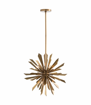 Astoria Starburst Chandelier | Antique Brass