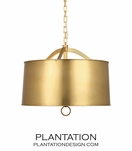 Atom 28 Pendant | Antique Brass