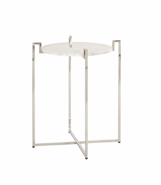 Avril Side Table | Nickel