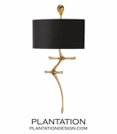 Axial Sconce | Gold Leaf