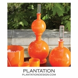 Bacchus Double Glass Decanter | Orange