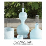 Bacchus Double Glass Decanter | Pale Blue