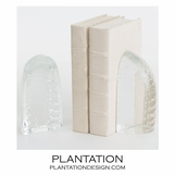 Baltoro Glass Bookends | Clear
