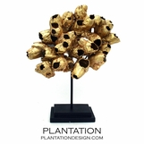 Barnacle Cluster Sculpture | Gold