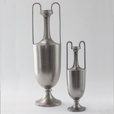 Baron Tall & Handled Vases | Platinum