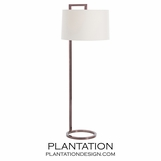 Belden Floor Lamp | Brown Nickel