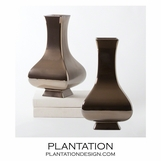 Baron Square-Necked Vase | Bronze