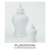 Bellevue Ceramic Jars | White