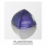 Bijou Art Glass Paperweight | Purple