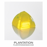 Bijou Art Glass Paperweight | Yellow