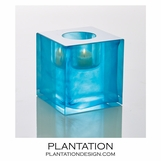 Bijou Art Glass Votive | Marine