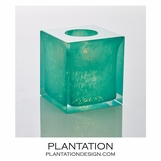 Bijou Art Glass Votive | Spearmint