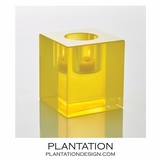 Bijou Art Glass Votive | Yellow