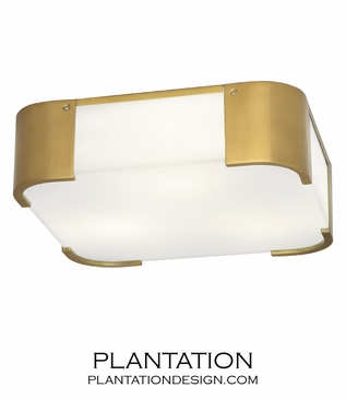 Blaine Flush Mount | Antique Brass