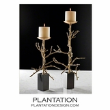 Branches Candlesticks | Brass